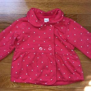 NWT ZeroXposur Infant Girls 18 24 M Months Pink Lightweight Fleece Hooded Jacket